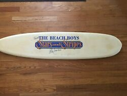 Beach Boys Stars And Stripes Promotional Advertisement - Autographed Surfboard