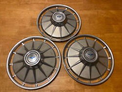 Qty 3 Vintage 1961 Chevrolet Corvair 13-inch Hubcap Wheelcover F325