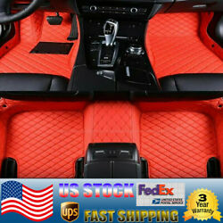Red Car Floor Mats For 2019-20 Bmw 320i/330i Xpe Car Rugs One-piece Design Pedal