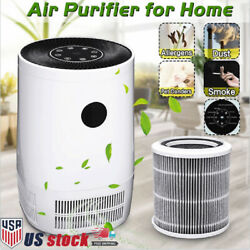Air Purifier True Hepa Uc Filter Cleaner For Home Smoke Dust Mold Odor Allergies