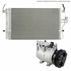For Ford C-max 2013 2014 2015 Oem Ac Compressor W/ A/c Condenser And Drier Csw