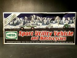 2004 Hess Toy Truck Sport Utility Vehicle And Motorcycles Original Box
