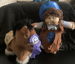 1983/84 Vintage Cabbage Patch Dolls Best In Show Pony And Cowgirl