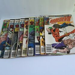 Lot Of 9 - Marvel - Vintage Daredevil Collectable Comic Books 1976 - 1981