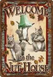 Welcome To The Nut House Squirrels Wall Decor Poster , No Framed