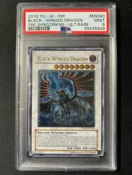 Yu-gi-oh Card Psa 9 Mint Black-winged Dragon Relief 2010 Ultimate Rare English