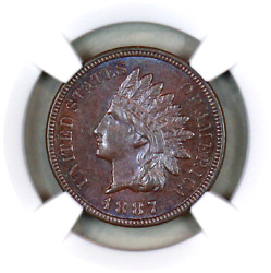 1887 Ms64 Bn Ngc Indian Head Penny Premium Quality Superb Eye-appeal