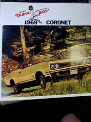 1969 Dodge Coronet Sales Brochure Booklet Catalog A+ Stored Since New Free Ship
