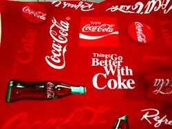 Coca Cola Fleece Fabric---3yds By 64 Wide-crafts- Sewing-blanket