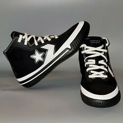 Converse All Star Pro Bb Men's Size 8 Black And White Shoes Brand New 170423c