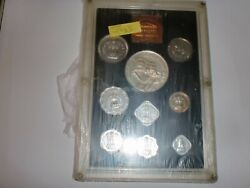 India- 9 Coin Proof Set- 25 Years Of Independence-1972-rs.10,1+paise 50,20,10+