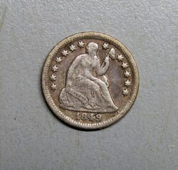 Scarce 1849-o Liberty Seated Half Dime Very Fine - Low Mintage Coin