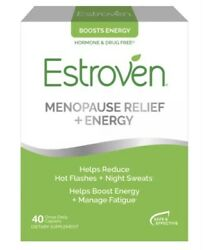 Estroven For Menopause Relief Energy 40 Caplets Each Exp 01/2021 New