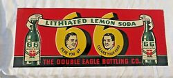 Double Eagle Lithiated Soda Advertising Embossed Sign Rt 66 Original