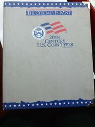 20th Century Us Coin Type Set -41 Different Coins -pennies To Dollars - Free S/h