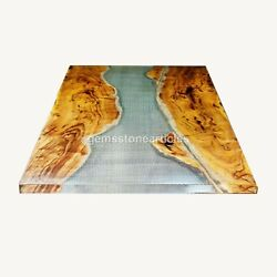 Living Room Coffee Table Dining Table. Epoxy Resin Table Acacia Furniture Decor