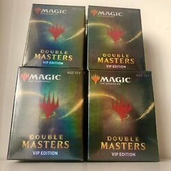 4x Double Masters Vip Edition Booster Box - Mtg Magic The Gathering - Brand New