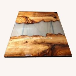 Epoxy Resin Table Clear River Table Top Epoxy Burl Acacia Wood Resin Table Top