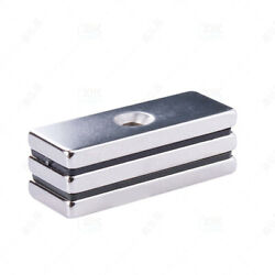 Neodymium Block Powverful Magnets Rectangle Rare Earth N35 With Single Hole