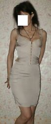 Silk Beige Embroidered Runway Tom Ford Rare Dress 40 It S-m