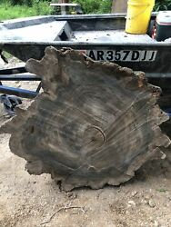 Louisiana Cypress Cookie Cut | River Table | Live Edge Slab Mississippi River2