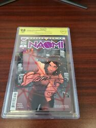 Naomi 1 Convention Edition Cbcs 9.8 Signed Jim Lee, Scott Williams And Alex...