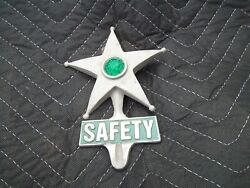 Safety Star License Plate Tag Topper Chevy Bomb Ford Trog Jalopy V8 A Rat Rod