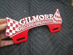 Gilmore Record Breakers Plate Tag Topper Chevy Bomb Ford Trog A Jalopy Rat Rod