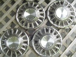 Four 1968 68 Ford Mustang Hubcaps Wheelcovers Center Caps Wheels Fomoco Vintage