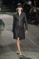 Rare Black Coat Tom Ford Quilted Leather 42it M Runway
