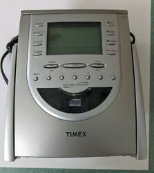 Timex T618t Am/fm Radio Alarm Clock Snooze Nature Sounds, As-is, Broke Cd Player