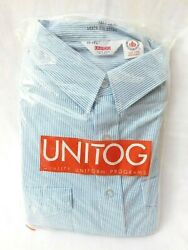 Vintage Pepsi Embroidered Unitog Uniform Shirt Size 17-17 1/2 - New Open Package