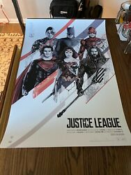 Oliver Barrett Justice League Signed Limited Edition Sold Out Print Mondo