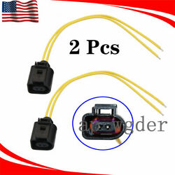 2x Outer Ambient Air Temperature Plug Pigtail Wiring For Vw Jetta Passat Audi