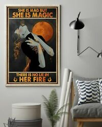 She's Mad But She's Magic Witch, Art Print Poster, Indoor Home Decoration Gift