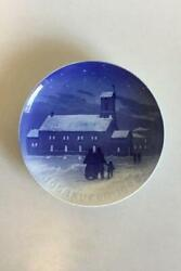 Bing And Grondahl Icelandic Christmas Plate From 1928 Very Rare
