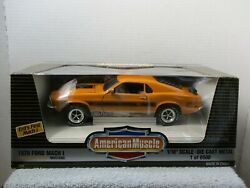 1/18 Ertl American Muscle Orange Twister Special 1970 Ford Mustang Mach I