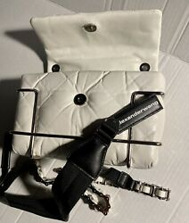 Alexander Wang Halo Quilted Leather Crossbody In White -sold Out