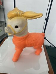 Rare Vintage 1961 Sun Rubber Donkey Squeaker Toy