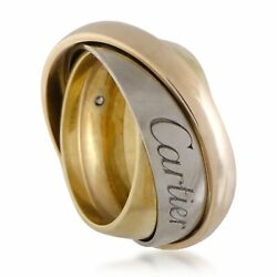 Trinity Classic 18k Yellow White And Rose Gold Signature 3 Rolling B...
