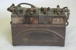 Original 1920's Ford Fordson Tractor Model T Ignition Coil Buzz Box W/ 4 Coils
