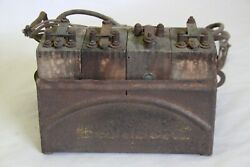 Original 1920and039s Ford Fordson Tractor Model T Ignition Coil Buzz Box W/ 4 Coils