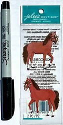 1 package of scrapbooking stickers NEW Horses