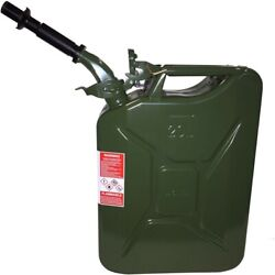 Authentic Nato Wavian Military Fuel/gas/diesel Steel Can - Green W/ Spout