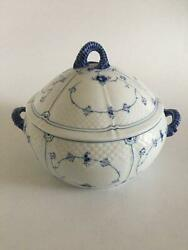 Bing And Grondahl Blue Painted Blue Fluted Soup Tureen No 666