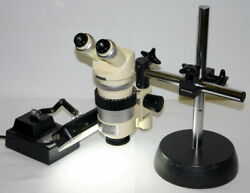 Wild Heerbrugg Stereo Microscope Model M7a With S Stand And Light