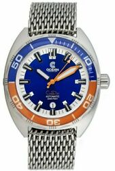 New Ocean Crawler Core Diver V1 Blue Orange Swiss Auto Watch 600m Sold Out In Us