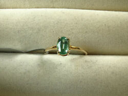 Rare 1ct Mint Green Kyanite Solitaire Solid 10k Yellow Gold Ring Size L-m/6