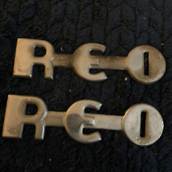 Reo Speed Wagon Truck Emblems Name Plates Emblems Badges Very Old