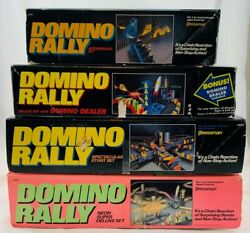 6 Domino Rally Sets By Pressman Neon, Deluxe, Adventure, Dealer Free Shipping